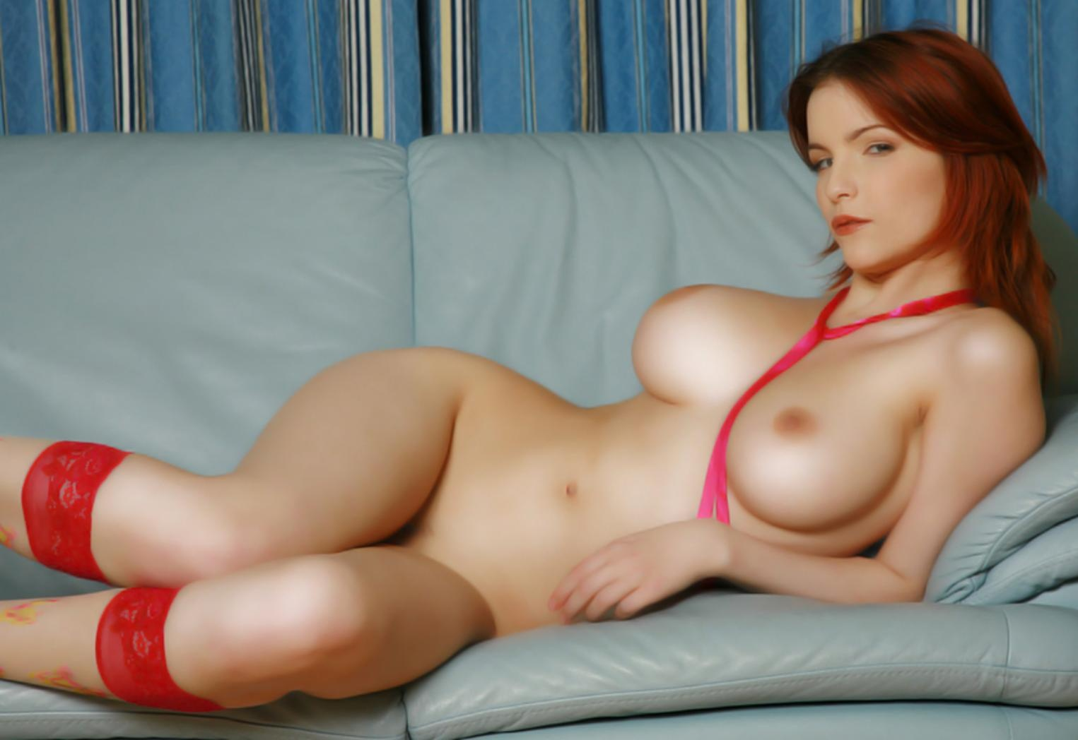 Redhead and threesome and xxx