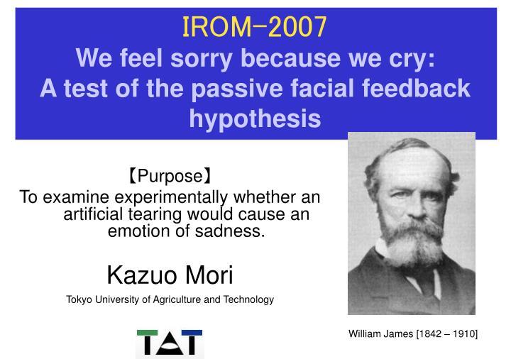 Roar reccomend Facial feedback hypothesis powerpoint