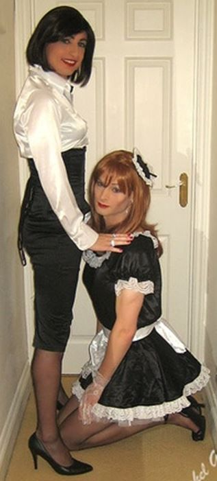 Sissy husband turned into shemale servant