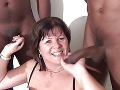 Interracial galleries mature porn