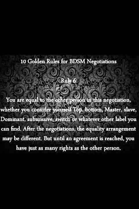 best of For play Rules bdsm