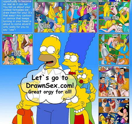 Marge Simpson Family Orgy