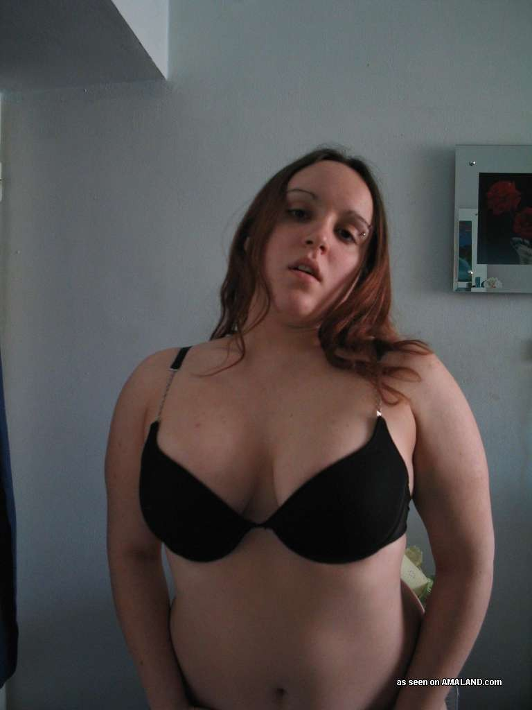 Chubby cute off stripping woman