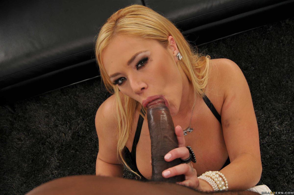 Bleach blonde with black