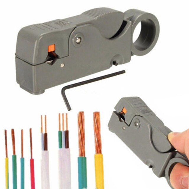 Hand held wire strippers