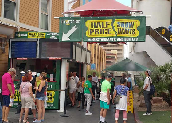 Half price show tickets on las vegas strip