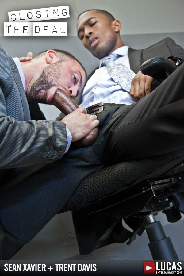 Gay office porn sitting position