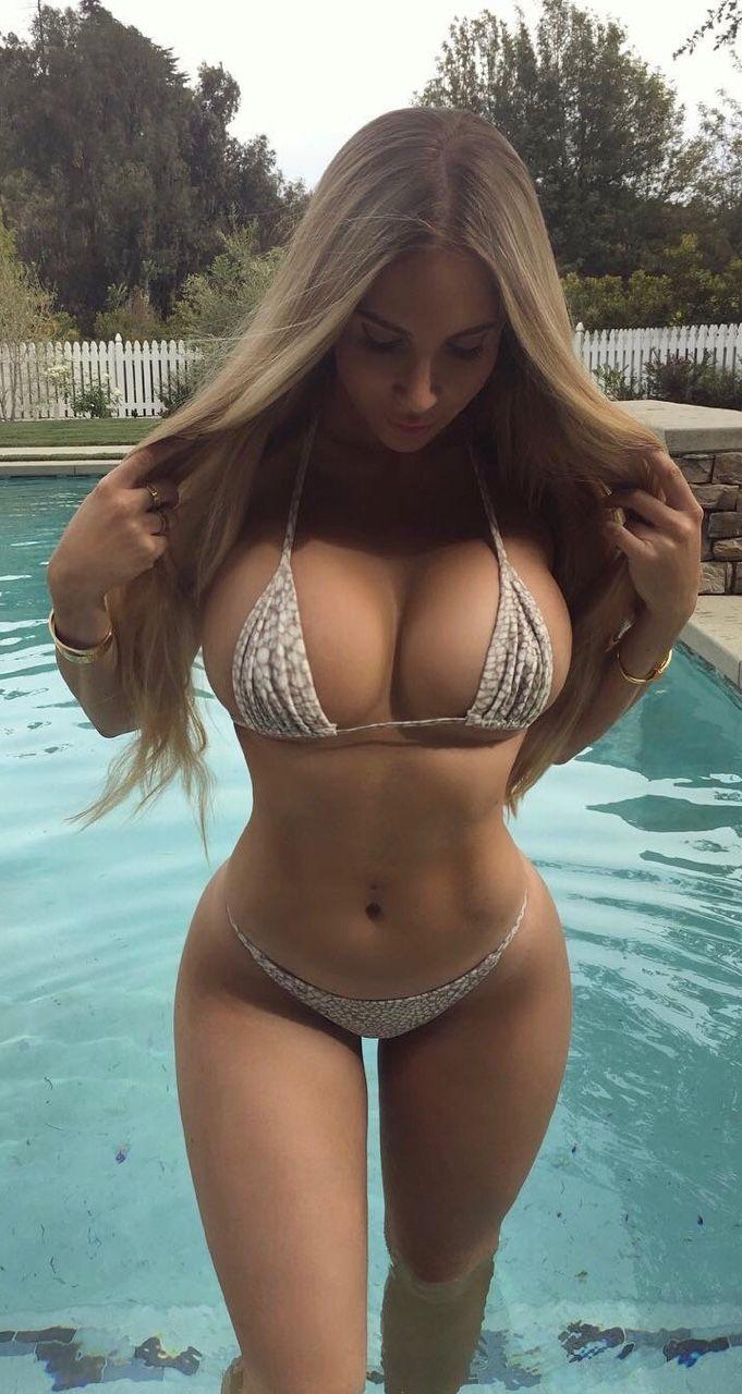 Beautiful bikini busty