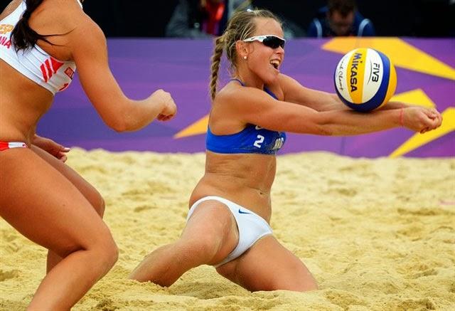 Gummy B. reccomend Beach volleybal vagina slip