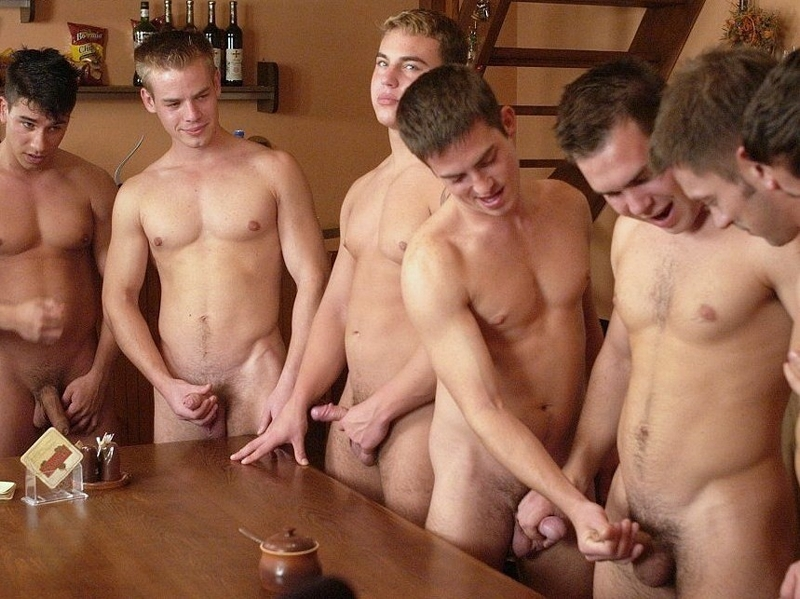 Group of men jerking off