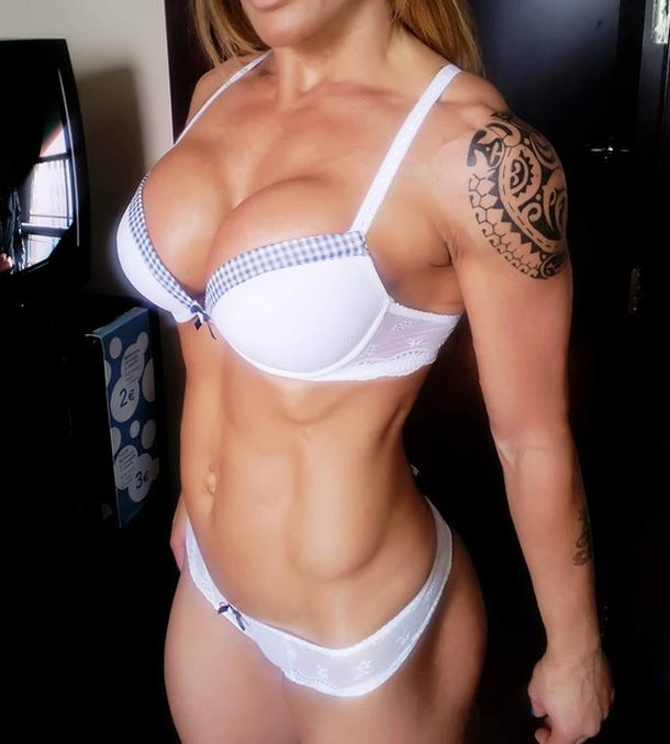 Body busty female fitness hard sexy