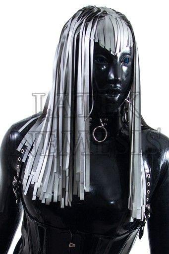 Bondage hoods with hair woman