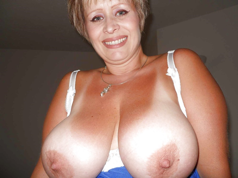 Busty granny tits