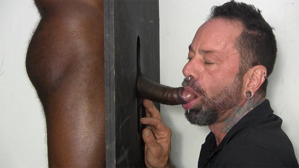 Straight guy sucks black cock