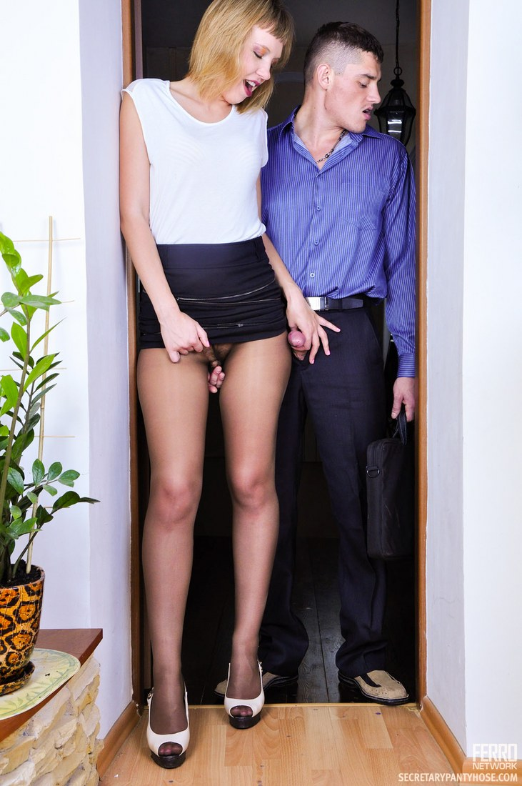 best of In front of Her pantyhose