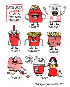 Motor reccomend Food cartoon strips