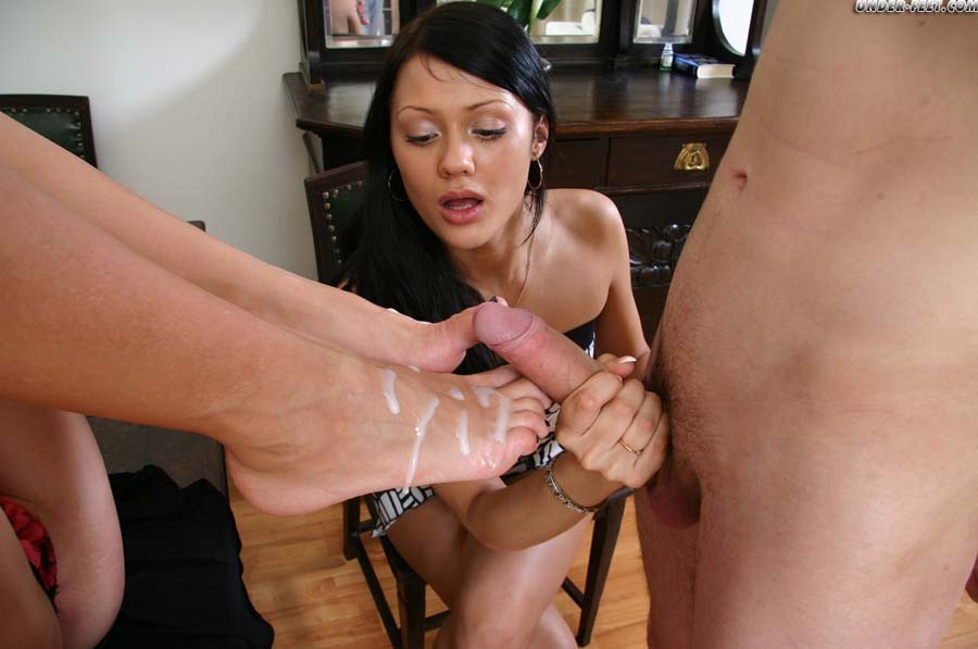 foot lick off Cum
