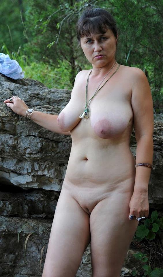 Mature nudist woman