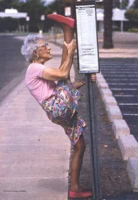 Old lady with stripper