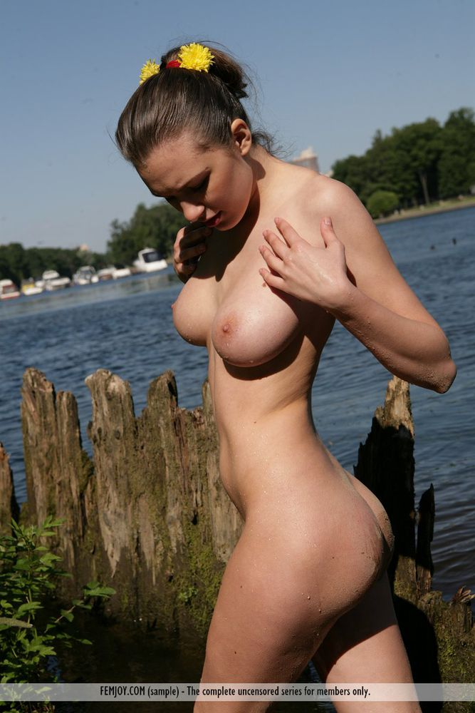 Big tits outdoor naked