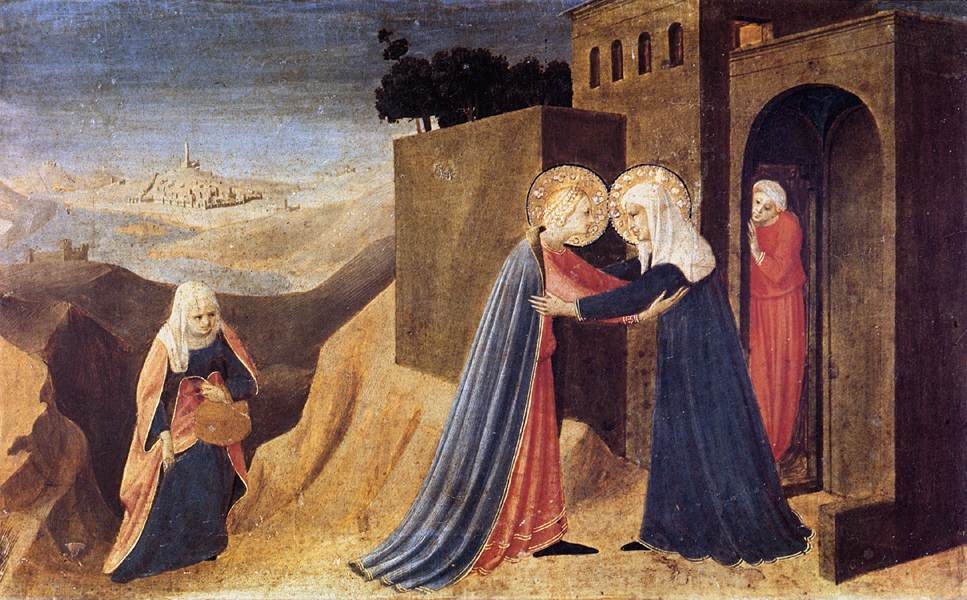 The visitation of the virgin to his holy cousin isabel