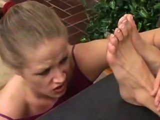 Boss feet humiliation